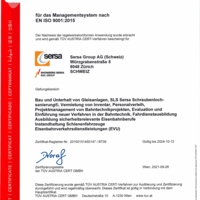 ISO 9001 Qualitätsmanagement Sersa Group AG